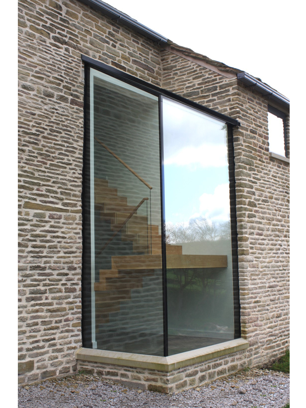 Structural glazing can be used to extend listed fabric